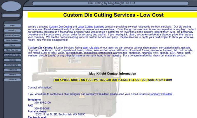 Mag-Knight Die Cutting & Laser Co. Inc.